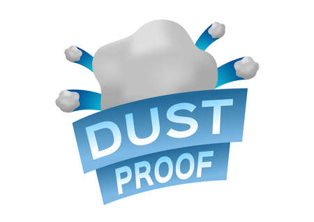 dust proof logo Icon . Vector . protection concept on white Ilustrace