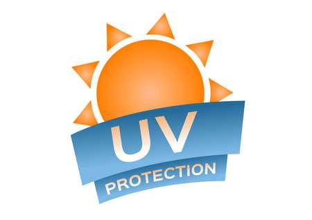 uv protection logo and icon on white