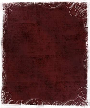 Old Textured Background with Victorian Classic Frame photo