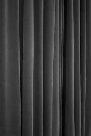 Black Theater Velvet Curtain Closeup photo