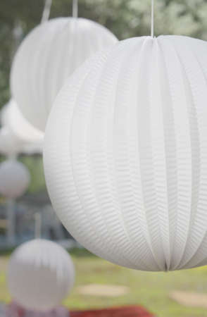 Suspended Decor Paper Ball on a Wedding