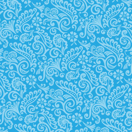 victorian wallpaper: Blue and Cyan Victorian Floral Wallpaper