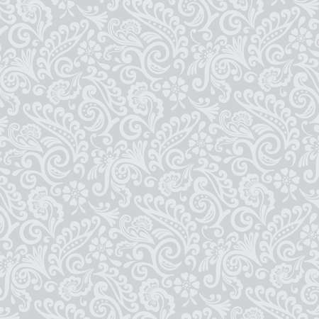 Gray Tones Victorian Floral Wallpaper Stock Photo - 16510850