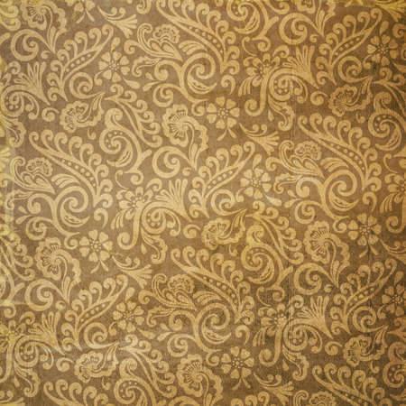 archetype: Used Vintage Victorian Floral Wallpaper