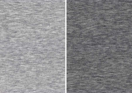 on gray: Texture of an Light and Dark Gray Cotton Textile