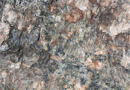 Closeup on a Natural Green and Orange Rock Texture