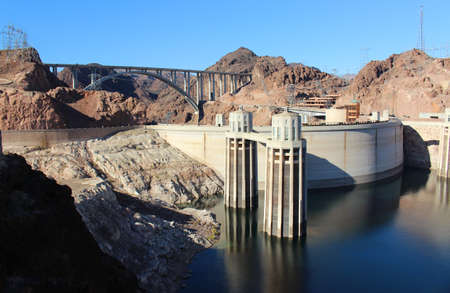 Hoover Dam Hydroelectric Structure on Colorado River