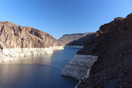 Colorado River close to Hoover Dam and Lake Mead
