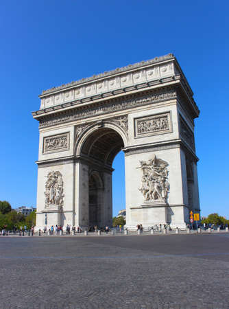 View of the Arc de Triomphe in Paris, France Stok Fotoğraf