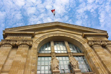 Outside view of Paris North Station, Gare du Nord in Paris, France Stok Fotoğraf