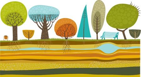 soil: giardino di Vector