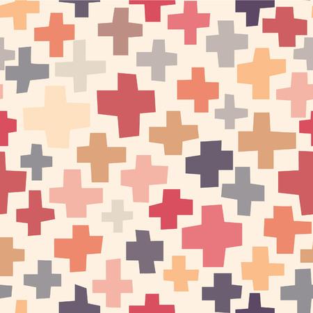 Seamless pattern Crosses