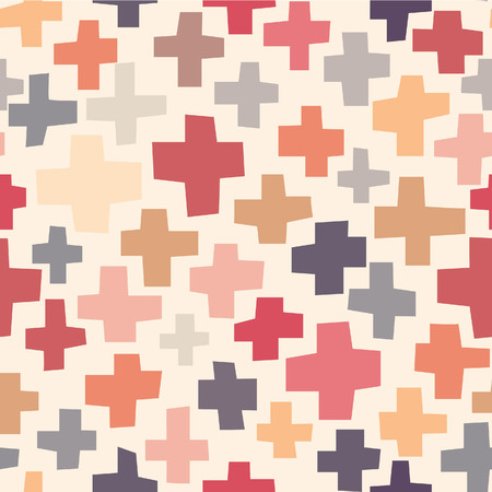 crooked: Seamless pattern Crosses