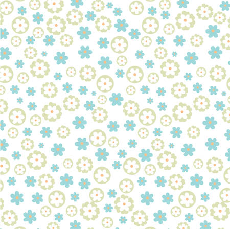 Motif floral vecteur bleu clair