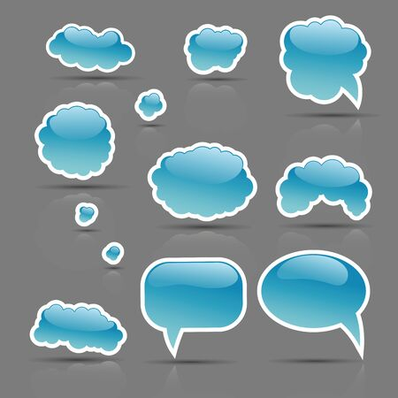 in insert: The vector set of glamour bubbles template ready for a text insert