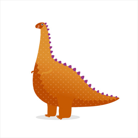 Dinosaur - vector illustration of a toy orange dotted dinosaur. A part of Dodo collection