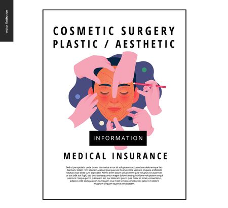 -modern flat vector concept digital illustration -surgical cosmetic procedure