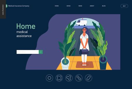 Medical insurance template -home medical assistance -modern flat