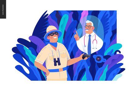 Medical insurance online doctor service Banco de Imagens - 127817143