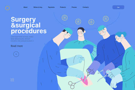 Medical insurance web page template. Patient and doctor using medical application with reports and test results, metaphor.