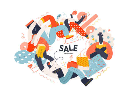 Discounts, sale, promotion. Flat vector modern illustartion 일러스트