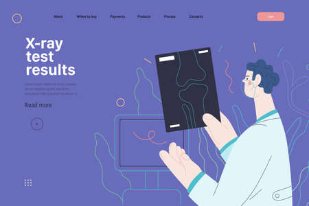 Medical tests template - x-ray test. Modern flat vector