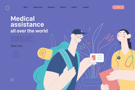 Medical insurance template - medical assistance all over the world