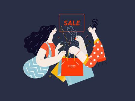 Discounts, sale, promotion. Flat vector modern illustartion 矢量图像