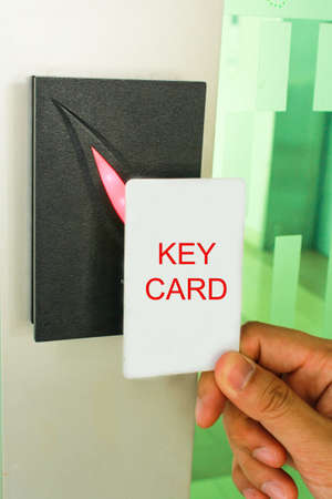 Key Card accessing a Door photo