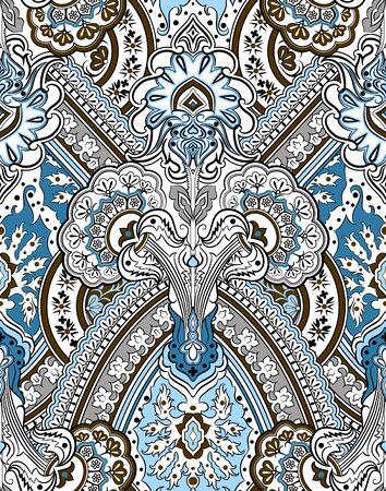 Naadloze etnische paisley patroon. Modeprint voor kleding.