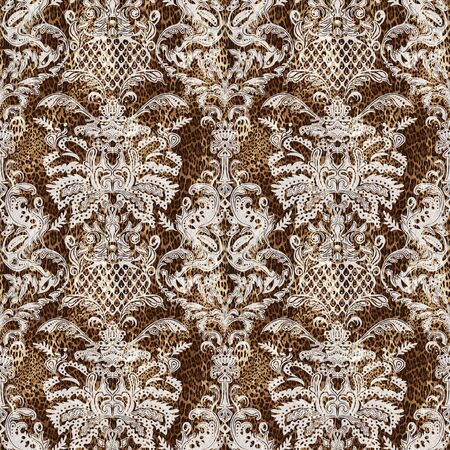 Seamless ethnic paisley pattern. Fashion print for clothes.