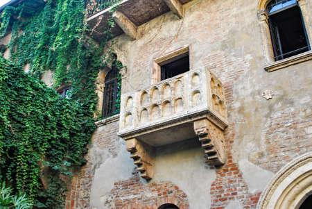 Juliets balcony in Verona Italy romeo juliet Stock fotó