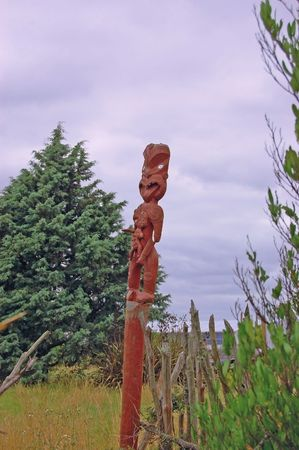 at an ancient maori village photo