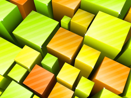 cubical: Vector illustration of abstract 3d background. Illustration