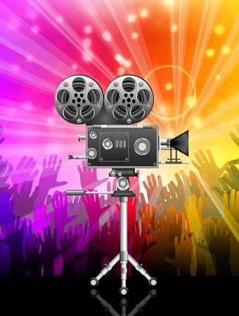 camara de cine: Ilustraci�n vectorial de c�mara de cine. Vectores