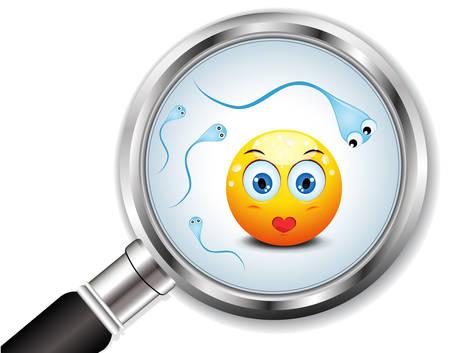 コンセプトを象徴する人間の卵と精子のベクトル図  イラスト・ベクター素材