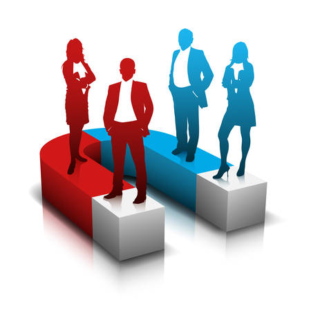 Vector illustration of business team.  Ilustração