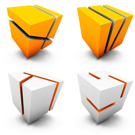 cubical: set of abstract design elements.