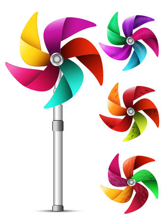 pinwheel toy: illustration of colorful pinwheel toy.