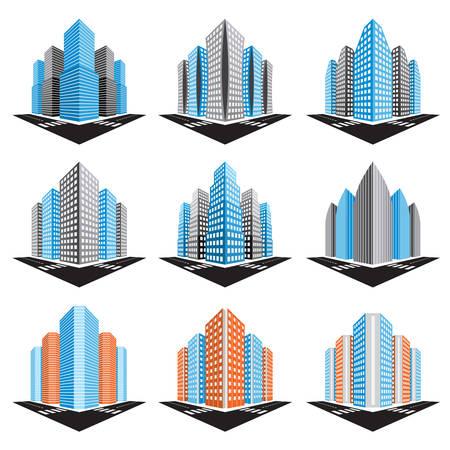 ilustración de edificios. Ilustración de vector