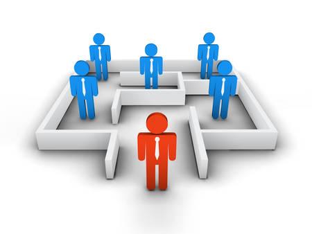 business team: illustration of business team.  Illustration