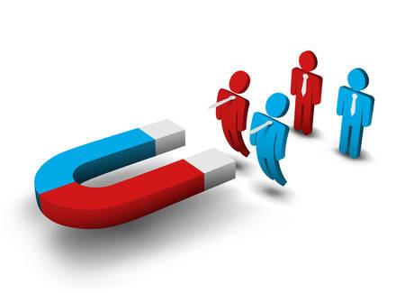 Vector illustratie van de zakelijke team. Stock Illustratie