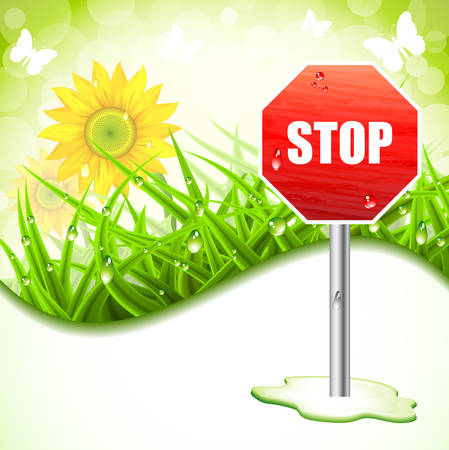 Vector illustration of spring banner. Vector