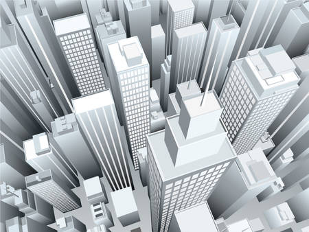 downtown district: illustration of downtown district.