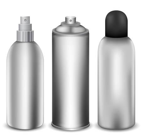 pressure bottle: Tres ilustraci�n botellas de spray diferente.