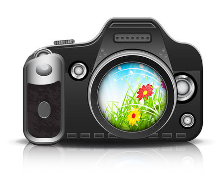 silver grass: Beautiful view through the lens. Vector illustration.