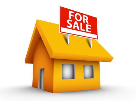 property for sale: Vector illustration of house for sale. Illustration