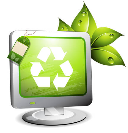 IT and environmental concept. Vector illustration.