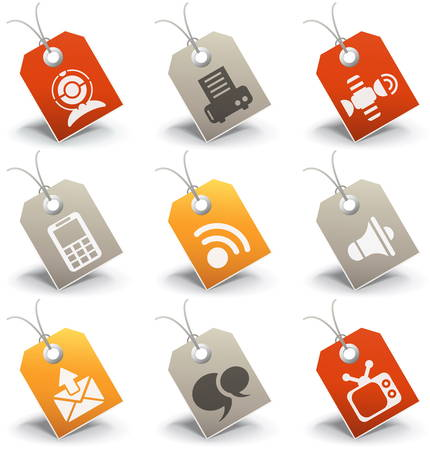 Vector set of communication icons.  Vector