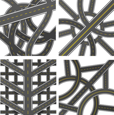 thoroughfare: Vector collection of roads.